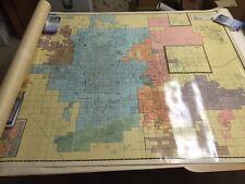"Vintage 1976 Molner Map of PHOENIX, AZ (pre-Thomas Bros.)  Large 54"" x 72"""