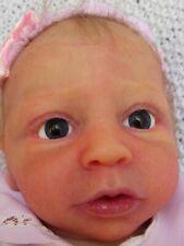 Solid ECOFLEX SILICONE Cloth Body Newborn Baby Girl Doll EZZIE SHERRI WILLIAMS