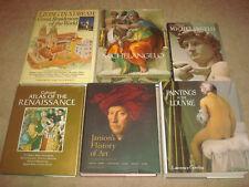 Art Book LOT Paintings in Louvre Michelangelo Renaissance Janson's History of 7