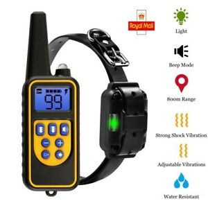 800m Waterproof Pet Dog Training Collar Rechargeable Vibrating Shock LCD Display