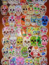 Set of 60 !!! Sugar Skull, Stickers, Decals, Vinyl, 2x3, Cross, Roses, Flowers