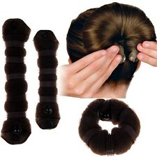 2Pcs Brown Large & Small Casual Hair Elegant Magic Style Hot Buns Doughnut Bun