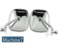 Classic VW T2 Camper Van Door Wing Mirrors Chrome Bay Side Mirror 1968-79 Pair