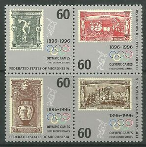 STAMPS-MICRONESIA. 1996. Centenary of The Modern Olympics Set. SG: 494/97. MNH.