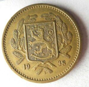 1938 FINLAND 20 MARKKAA - RARE DATE - High Value Coin - Lot #S19