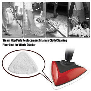 Steam Mop Pads for Vileda Replacement Triangle Cloth Cleaning Floor Tool Repl QC