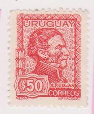 (UGA-63) 1972 Uruguay 50p red general ARTIGAS (A)