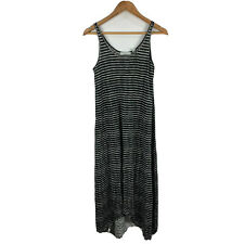 Country Road Womens Linen Maxi Dress Size Small Black White Striped Sleeveless