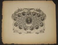 Antique 1853 CHARLES MAGNUS 'The Presidents of our Great Republic' ENGRAVING