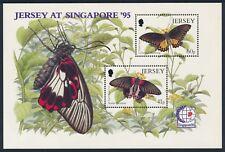 1995 JERSEY BUTTERFLIES & SINGAPORE '95 MINISHEET FINE MINT MNH