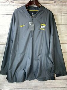 NEW Nike Dri Fit Mens 3XL Iowa Hawkeyes 1/4 Zip Pullover Football Outback Bowl