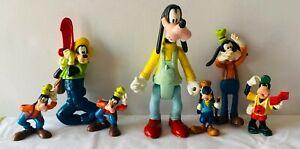 GOOFY Disney Collectable 90s Toy 7 Figure Figurine Bundle Lot Various Sizes F1