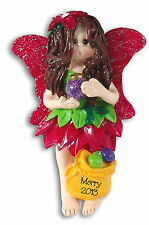 Merry - Forest Fairy Princes Personalized Christmas Ornament by Deb & Co Resin