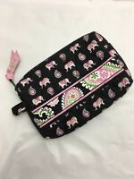 Vera Bradley SMALL COSMETIC Bag MAKEUP for PURSE Tote BACKPACK Pink Elephants