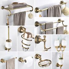 Antique Brass Carved Bathroom Accessories Bathroom Hardware Set Towel Shelf Bar
