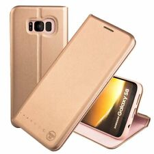 Samsung Galaxy S8 Case Shockproof TPU Silicone Bumper Card Slot Cover Rose Gold