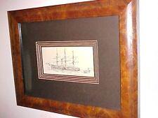 "Original Pen & Ink Drawing ""An Early Atlantic Steamer"" 19th C."