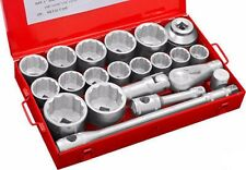 "21 Piece 1"" Inch Drive Dr SAE Standard Socket Set Large Heavy Duty"
