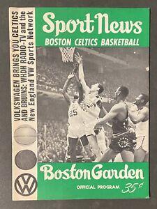 Boston Celtics Vs LA Lakers Boston Garden 1965 Sport News Official Program