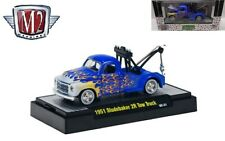 New M2 1/64 Diecast Car '51 Studebaker 2R Tow Truck in Acrylic Display Case
