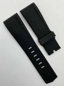 Authentic New Corum 24mm x 21mm Black Rubber Watch Strap Band OEM