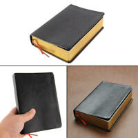 Vintage Thick Black Paper Notebook Notepad Leather Journal Diary Sketchbook Book