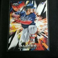 Ozzie Albies 2018 Topps Fire Rookie Card RC #29 Atlanta Braves