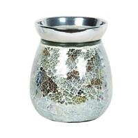 Gold & Silver Crackle Electric Wax Warmer/Burner & 10 Scented Melts (3143)