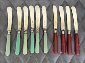 10 Vintage EPNS Butter Knives 17cm long retro tearoom afternoon tea