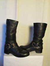 bottes cuir noir PRADA  pointure  37,5