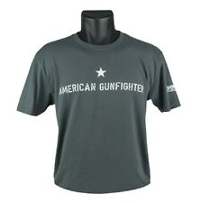 BRAVO COMPANY AMERICAN GUN-FIGHTER T-SHIRT, SHORT SLEEVE, GRAY