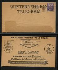 US  Western Union Tel cover  Emerson TV  ad cover               MS0518