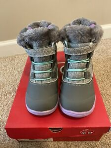Size 11.5 Toddler Kid's see kai run Abby Waterproof Snow Insulated Boots Grey
