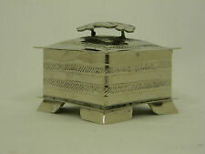 Jewelry Box Hand Made Silver Hammered Trinket  Mexico