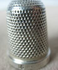 More details for pretty 1897 antique silver thimble