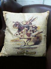 Beautiful NEW Vintage style Cushion & filler White Rabbit Alice in Wonderland
