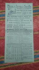 1950 Cartel Plaza de Toros Sevilla Homenaje al Barrio de Triana 6 Utreros