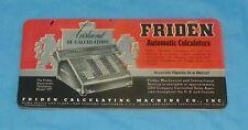 Vintage Friden Calculators Ink Blotter