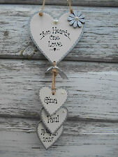 ❤️ New Personalised Hanging Heart Wedding/ Valentine gift ,Engagement gift,❤️