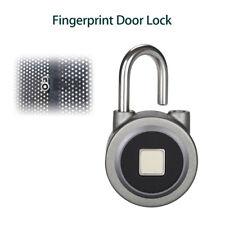 Fingerprint Door Lock Smart Keyless Round Padlock Waterproof APP High Security
