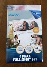 Disney Moana 4 Piece FULL Sheet Set - Free Shipping