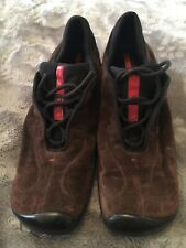 Prada Sport Mens Shoes - Leather - Brown Size 39