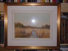 Original c1910 Watercolour Painting 'Among The Reeds' (Norfolk?) by R S Rogers