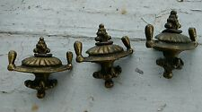 Antique Cabinet/Drawer Pulls Unique Brass Brass Plated Lot of 3