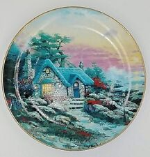 Thomas Kinkade Collector Plate Seaside Cottage enchanted cottages Knowels P203