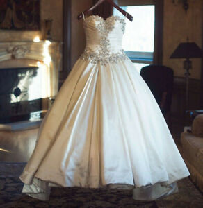 Custom Vintage 60s Taffeta Wedding Dresses Strapless Rhinestone Strap Plus Size