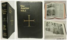 New American Bible NAB Saint Joseph Edition Large Type Black Leather 1991 Nice!