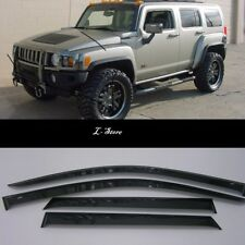 Side Window Visors Sun Guard Vent Deflectors for Hummer H3 2005-2010