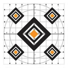 """NEW Do-All Outdoors Accu-Blue 5 Diamond Paper Targets 10""""x10"""" 10 Pack"""
