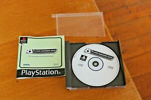 Player Manager 2000 PS1 Playstation One Game & Manual PAL Football Soccer